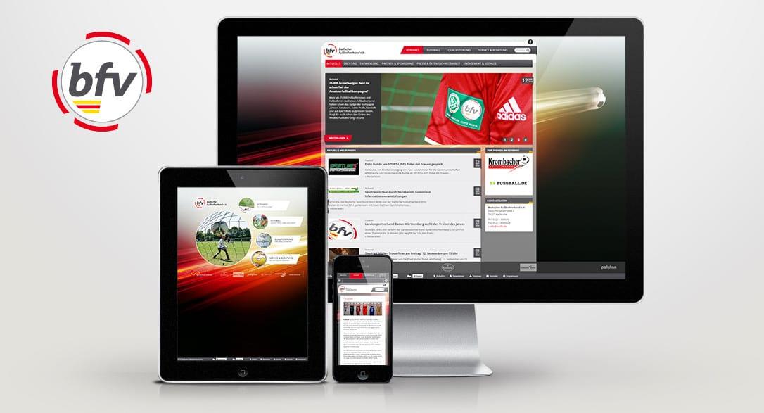 Website Relaunch für den Badischen Fussballverband e.V. online