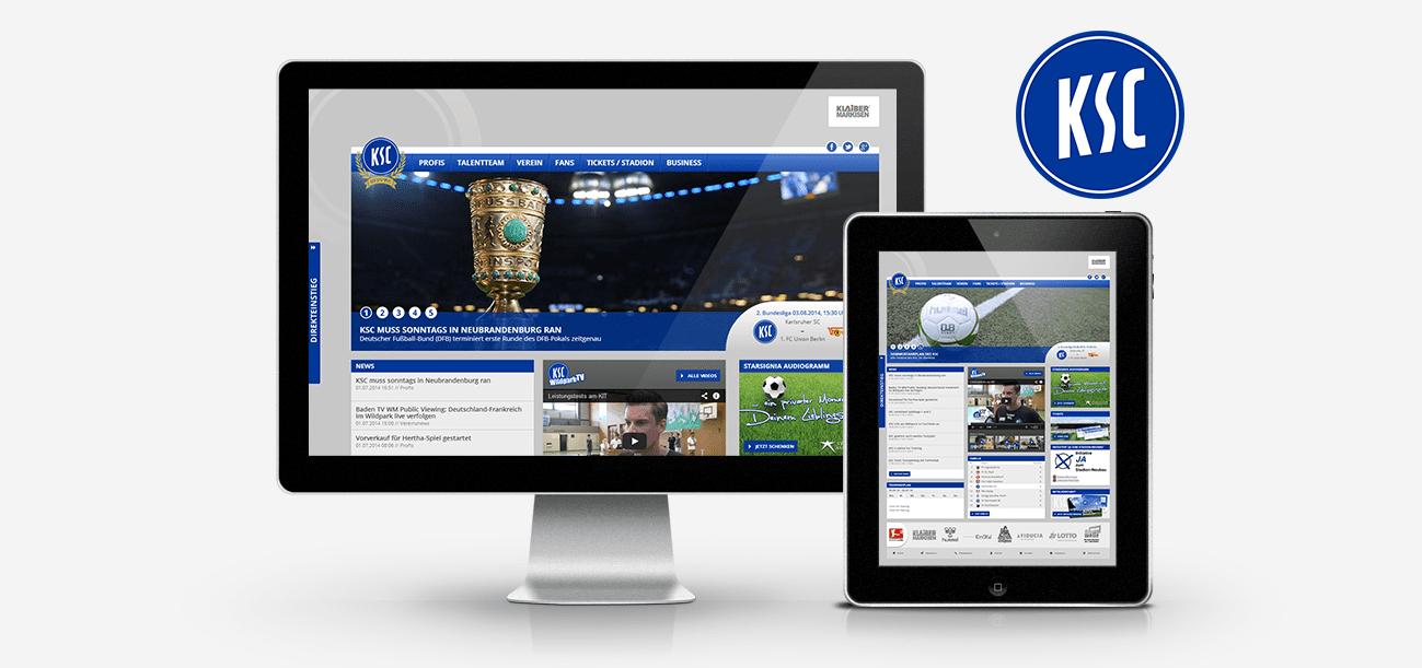 Neues Design für den Karlsruher Sport-Club (KSC)