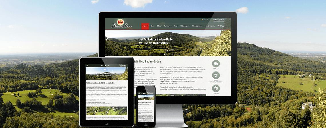 Neue Website für den Golfclub Baden-Baden e.V. online