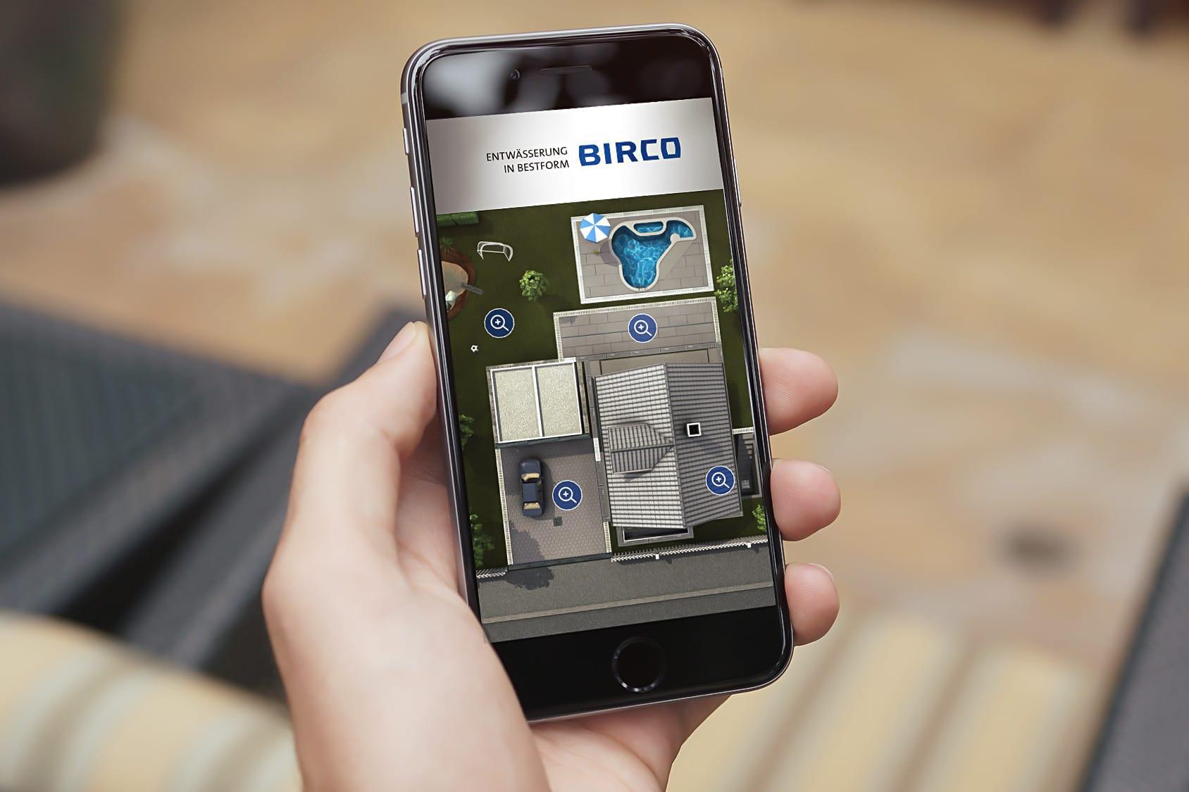 Web-App: Interaktives Grundstück für BIRCO