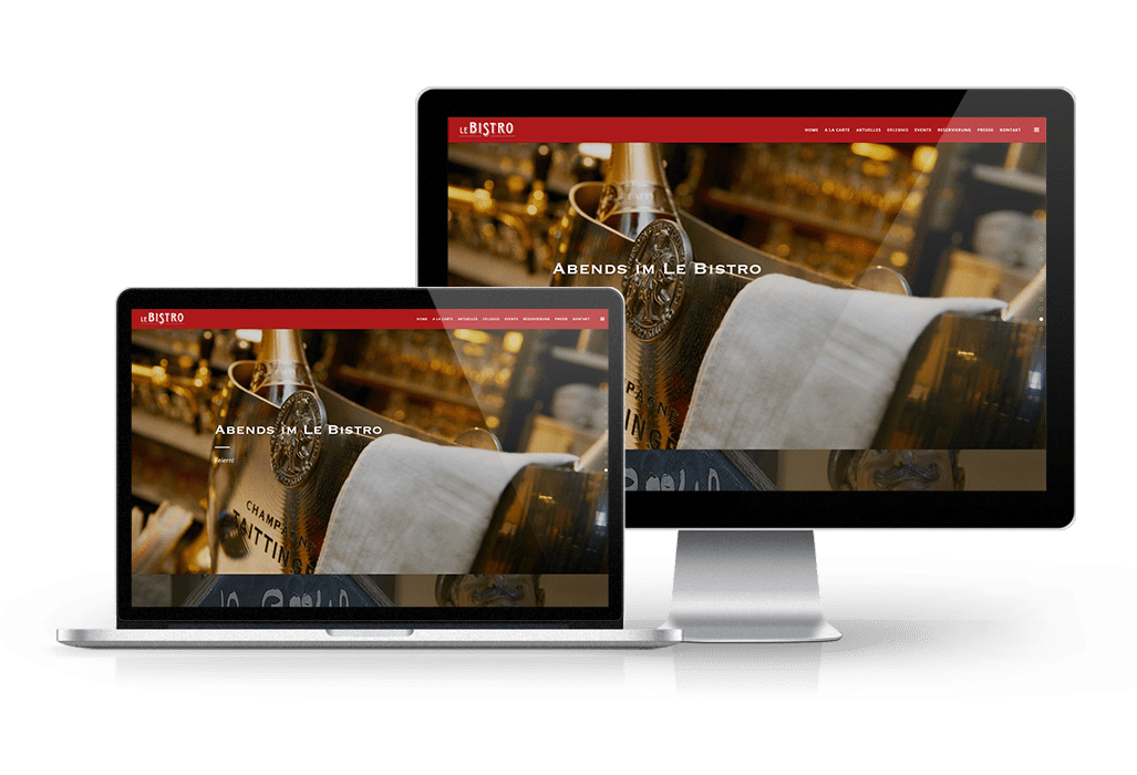 Website Relaunch für das Le Bistro online