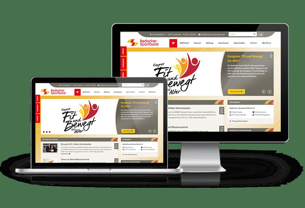 Website für den Badischen Sportbund Nord