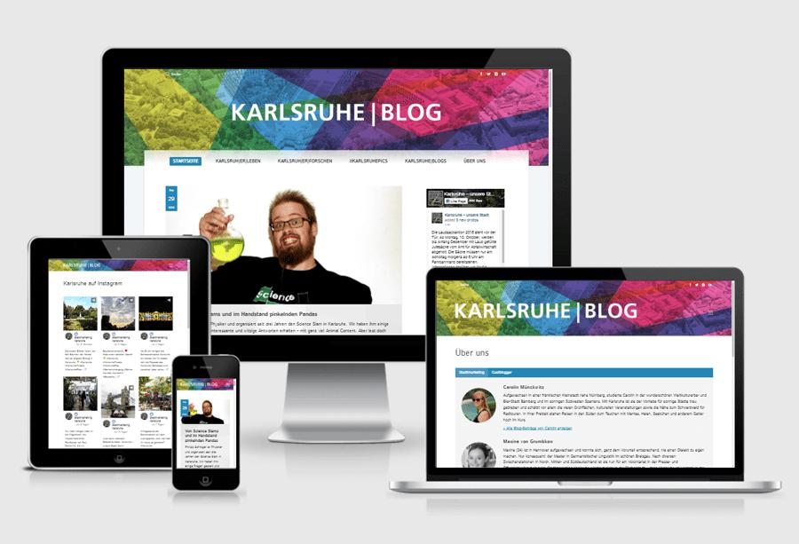 Blog für die Stadt Karlsruhe