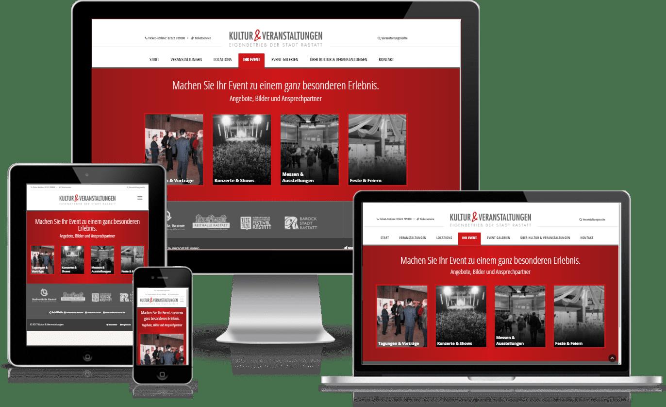 Kultur und Veranstaltungen – Typo3 Website