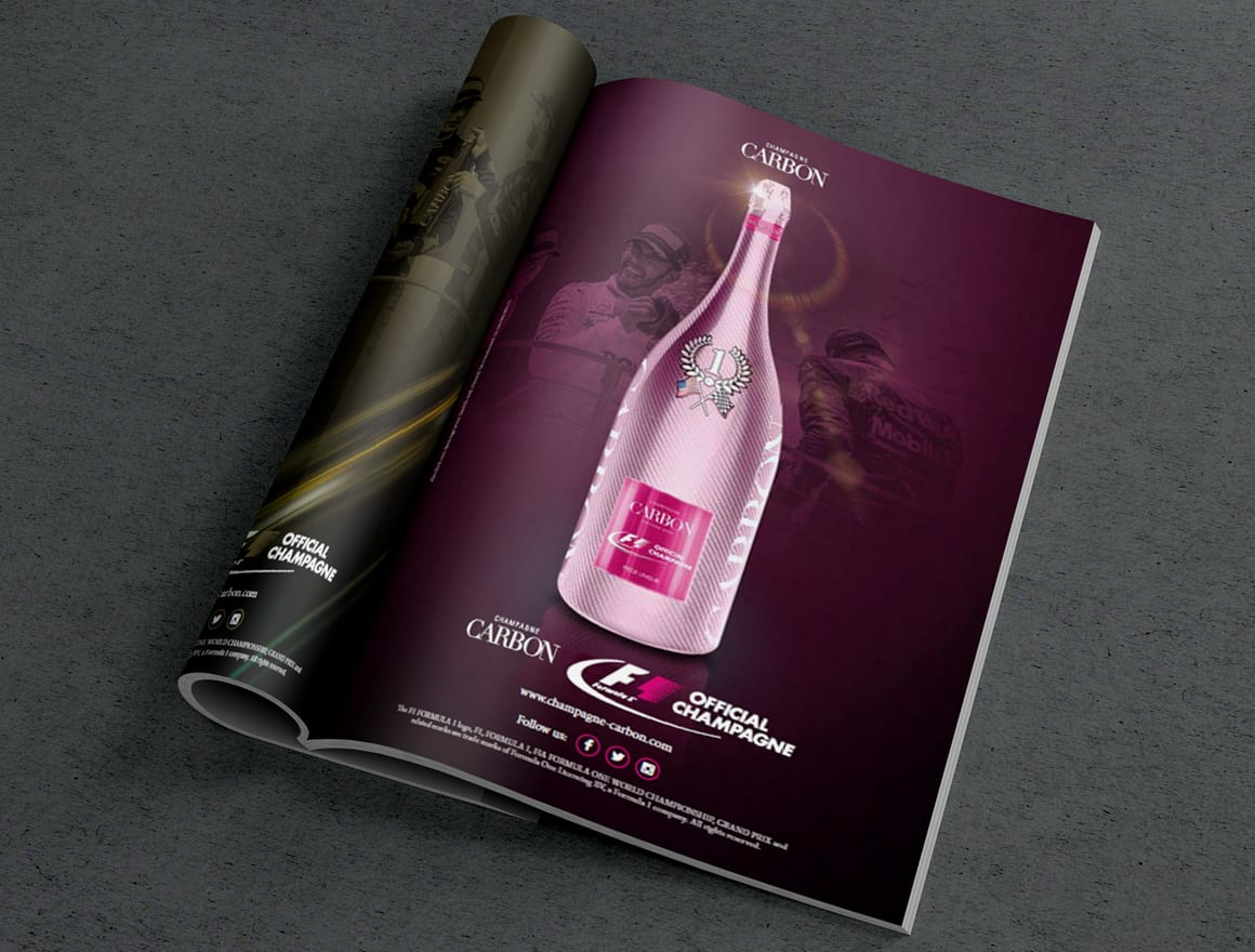 Champagne Carbon – Print Kampagne